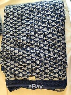196 yds Blue And White Hand Blocked Indian Cotton Fabric, Coordinating Patterns