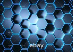 3D Geometry Pattern Blue Self-adhesive Removable Wallpaper Murals Wall StickerFC