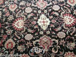 9x12 Intricate Floral Allover-Pattern Hand-made-knotted Wool Oriental Rug 581379