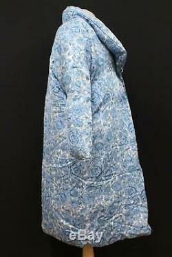 BIMBA Y LOLA Ladies Light Blue Floral Pattern Popper Button Up Coat Jacket Small