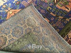 COLLECTORS ITEM Antique Maldari Floral Pattern Blue with Green Soft Kohistanian