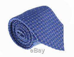 Canali Blue/Pink Pure Silk Floral Pattern- Blade Width3in