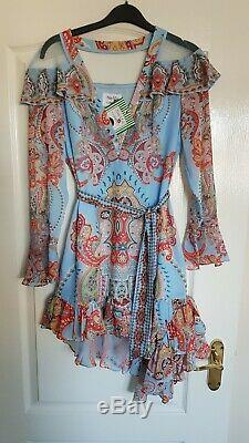 Comino Couture Light blue multi tile patterned mini dress 8,10,12 sold out