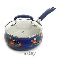 Cookware Floral Pattern Nonstick Ceramic 10-Piece Gift Set Kitchen Cooking Tool