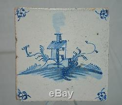 Delft Tile Dutch Country Home with perimeter Floral Pattern