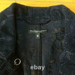 Engineered Garments Jacket Corduroy Floral Pattern Navy Size S Mens USED