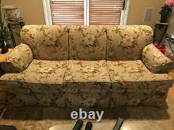 Ethan Allen sofa, Greyish WithFloral Pattern