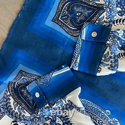 Farm Rio Blue Tile Pattern Blouse Top Sold Out NEW NWT Small / Medium