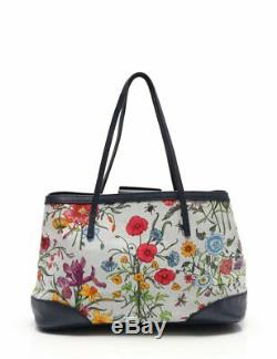 GUCCI Flora tote bag floral pattern canvas leather 50th anniversary limited