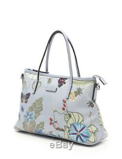 GUCCI Kris Knight tote bag floral butterfly pattern nylon canvas leather 2WAY