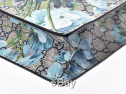 Gucci GG Supreme Bloom 2WAY Tote Blue Series Floral Pattern Wom 805000921743000