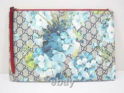 Gucci Gg Clutch Bag 410807 Women'S Mens Blue Floral Pattern Red 68494