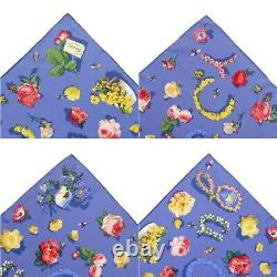 Gucci scarf small Size silk flower pattern GUCCI Scarves Blue