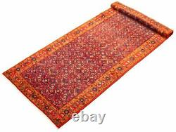 Hand-Knotted Carpet 4'7 x 10'6 Traditional Oriental Hand-Made Wool Area Rug