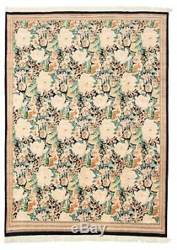 Hand-knotted 9'1 x 12'4 Bordered, Floral, Traditional Wool Rug