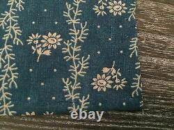 Handmade With Rrl Fabric Blue Chambray Mens Designer Floral Pocket Square Scarf