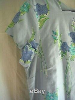 Lilly Pulitzer Kylie RARE Sky Blue Bouquet Pattern Cotton Dress, Size 14 NWT