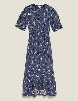 Marks And Spencer Ghost Pattern Dress Sold Out Size 12 Bnwt