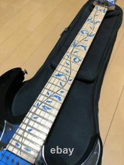 Near Mint Ibanez JEM77P Blue Floral Pattern Steve Vai Electric Guitar HSH WithGB