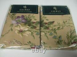 New Sealed Ralph Lauren 450TC ADRIANA Floral 2 King Pillowcases