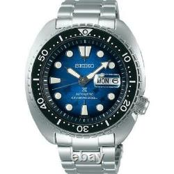 New Seiko SRPE39 King Turtle Save The Ocean MANTA RAY PATTERNED DIAL In Stock