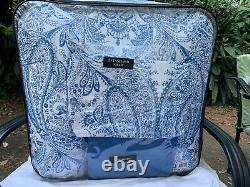 New White With Blue Pattern Raymond Waites Comforter Queen Size
