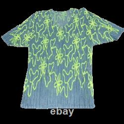 PLEATS PLEASE ISSEY MIYAKE Top & Bottom Set Floral pattern size2-3 USED