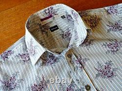 Paul Smith Shirt, Made in Italy, 100% Cotton, Long Sleeves, Floral Pattern, Size15/38