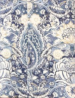 Piubelle Premiere 3pc Floral Medallion Pattern Duvet Cover Set in Azulejos of in