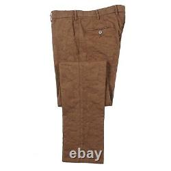 RODA Slim-Fit Cocoa Brown Floral Patterned Cotton Pants 32 NWT $325