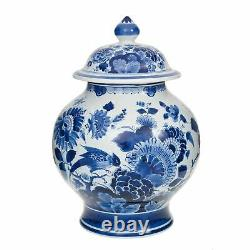 Royal Delft Jar with Lid Floral Patterns The Original Blue Collection