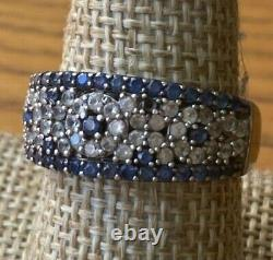 Sapphire and Diamond Multi-Stone Ring by Suze Levian, Pretty Floral pattern