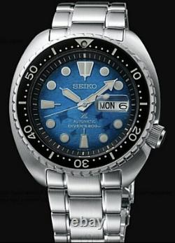 Seiko SRPE39 King Turtle Save The Ocean MANTA RAY PATTERNED DIAL
