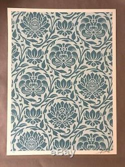 Shepard Fairey (OBEY) Floral Harmony Blue Pattern Signed and Numbered /100