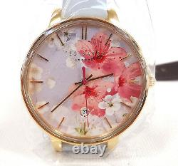 TED BAKER LONDON Women's Watch Floral Pattern Leather Band TE50377003 New