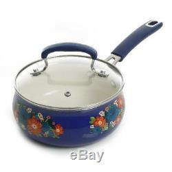 The Pioneer Woman Floral Pattern Ceramic Nonstick 10-Piece Cookware Set