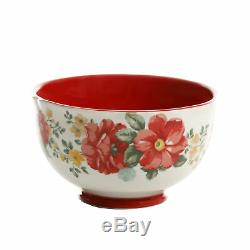 The Pioneer Woman Vintage Floral 12-Piece Dinnerware Set Vibrant Pattern Red New
