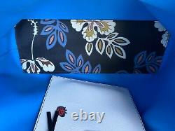 Tory Burch Tote Bag / Purse Used Twice Navy Blue with Floral Pattern