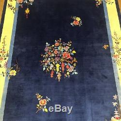 YILONG 4'x6' Handmade Chinese Art Deco Silk Carpet Exclusive Pattern Area Rug